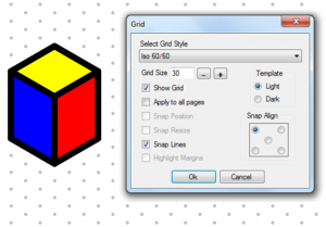 Workbook's new 30-60 isometric grids amaze with popular snap-to-grid function.